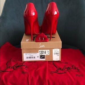 ... Bag Christian Louboutin Patent Leather Red 100 Heels ... b3e706d5106e0